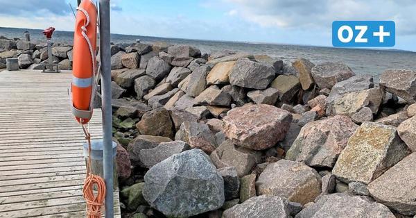 Insel Poel: Mole beschädigt - Sorge vor der nächsten Sturmflut