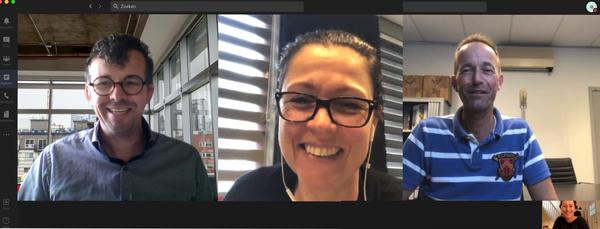 Teams-overleg met Judith Mansveld en Herman Oonk van te Sligte-Olijdam