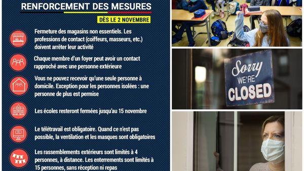 """Belgique : des règles du """"confinement plus strict"""" - België: strengere maatregelen"""