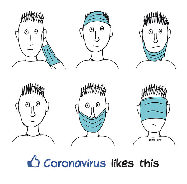 Not that funny, but coronavirus does like this — Credit: IrinaBlok