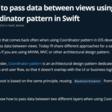 How To Pass Data Between Views Using Coordinator Pattern In Swift