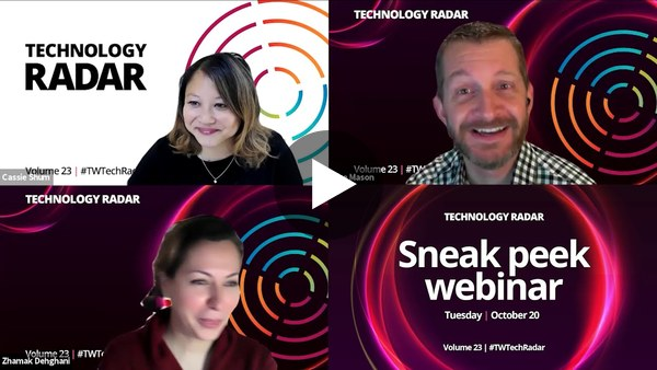 Technology Radar Vol. 23 Sneak Peek Webinar 2