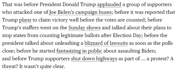 Jonathan Bernstein's assessment of an unusual Sunday in American politics