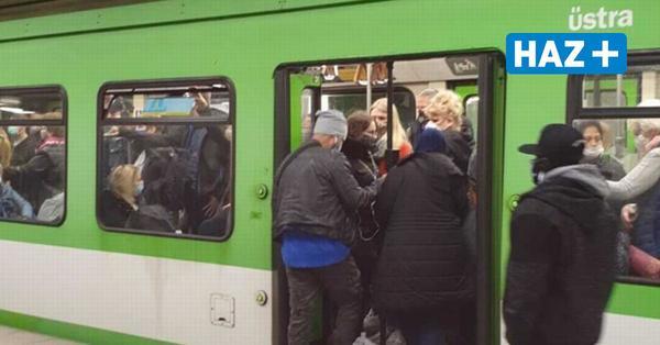 Nach Stau sind Üstra-Bahnen in Hannover übervoll - keine Spur von Abstand