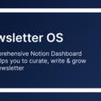 Newsletter OS (Notion Dashboard)
