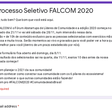 Processo Seletivo FALCOM 2020 - Comunidades de Todo o Brasil