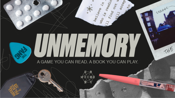 Unmemory: a game you can read, a noir novel you can play.