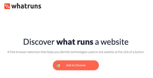 Peek behind the scenes of any website with the 'WhatRuns' plugin for Chrome