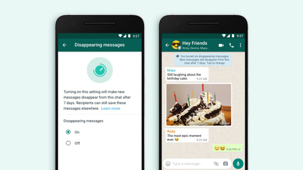 WhatsApp now lets you post ephemeral messages that disappear after 7 days
