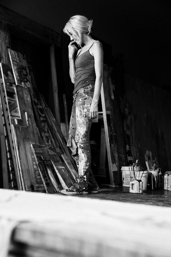 Brigitte D'Annibale in her studio