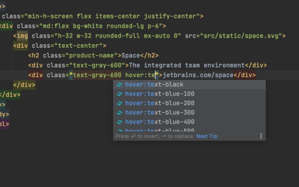 WebStorm 2020.3 EAP #7: Tailwind CSS Support, etc