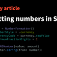 Formatting Numbers In Swift