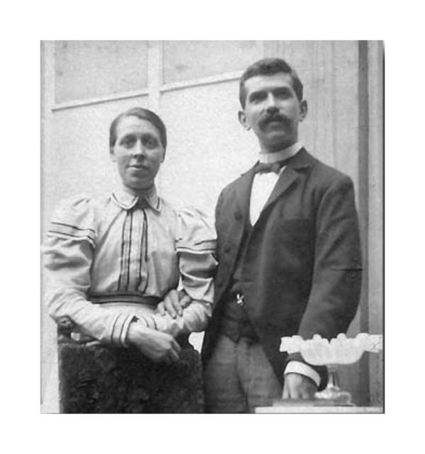 Bernardus Arps en zijn echtgenote Anna Adriana Arps-van Rossem omstreeks 1894