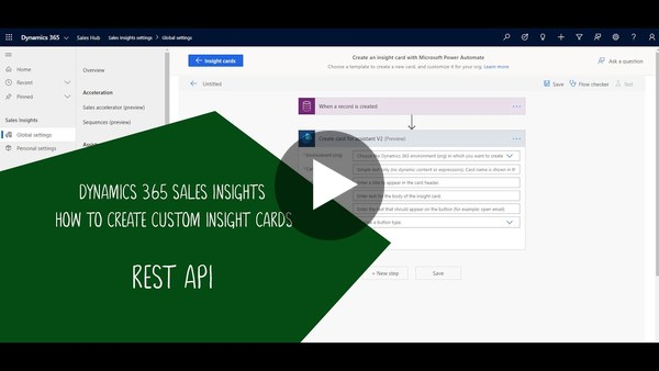Dynamics 365 Sales Insights Assistant: Invoke a REST API