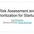 Risk Assessment and Prioritization for Startups - Google Slides