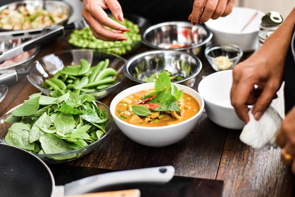 De Thai hebben een uitgebreide keuken met heel veel smaken.
