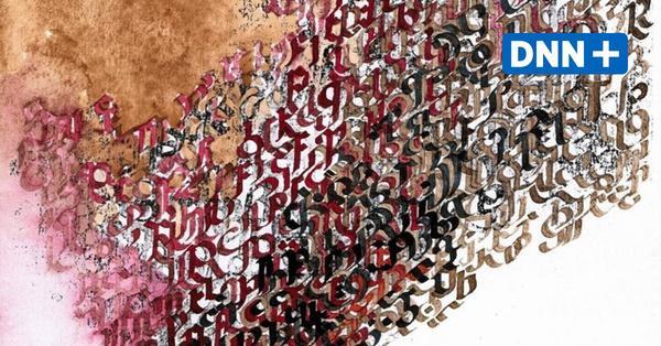 Micha Brendel zeigt kalligrafische Phantasmen und Verschriftungen