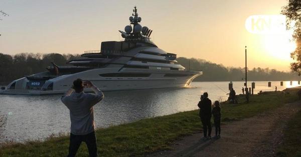 "Megajacht ""Nord"": Der Hingucker im Nord-Ostsee-Kanal"
