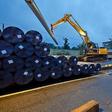 Bau der Gaspipeline ins VW-Werk: Die ersten 300 Rohre sind schon in Wolfsburg