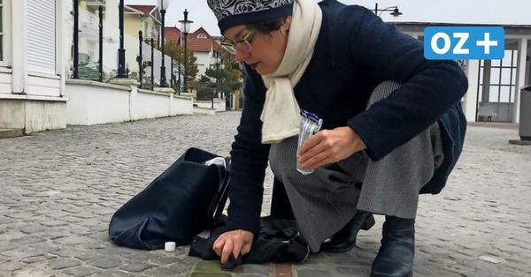 Warum eine Pastorin am 9. November Stolpersteine vor dem Binzer Kurhaus putzt