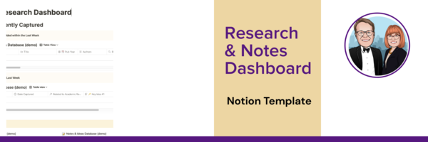 Research & Notes Dashboard Notion Template