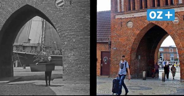Fotovergleich zeigt Nosferatu-Drehorte in Wismar 1921 und heute