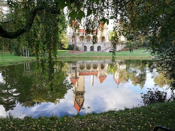 Der Teich hinter dem Krematorium auf dem Südfriedhof. Foto: Petra Radtke
