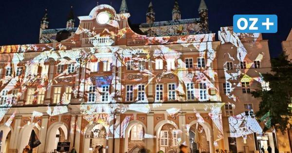 Rostocker Lichtwoche verlängert: So lange erstrahlt die Stadt in bunten Farben