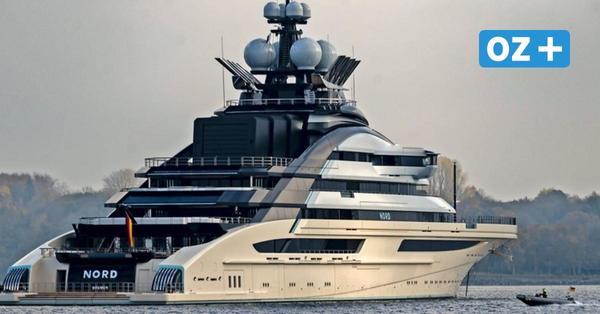 Rügen: Diese Super-Luxus-Yacht lag vor Sassnitz auf Reede