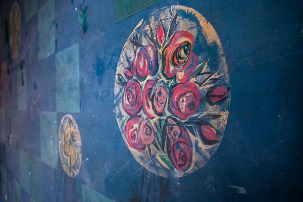 Ein Detail des wiederentdeckten Wandbildes. Foto: Julius Frick