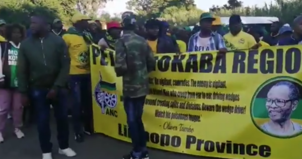 Magashule supporters out in full force | eNCA