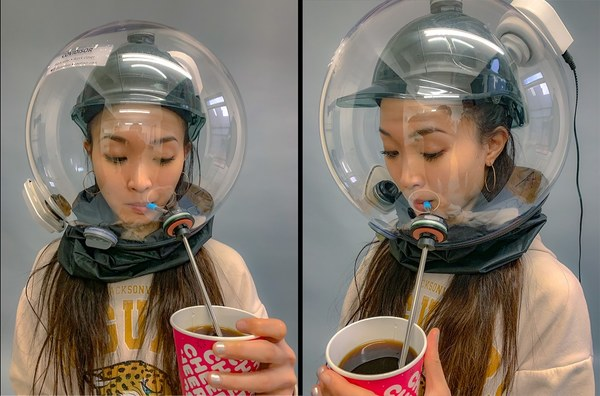 Meet Covidisor, A Practical COVID Helmet That Lets You Drink Coffee