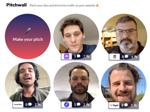 Pitchwall: Pitch Your Idea and Drive Free Traffic to Your Website