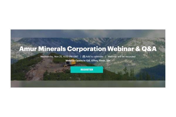 Amur Minerals Corp (AMC.L) Notice of AGM & presentation, Q&A session