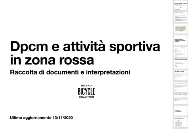 Dpcm e attività sportiva in zona rossa (Pdf).