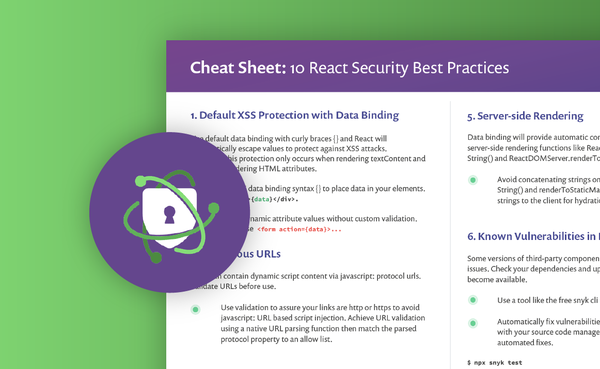 10 React security best practices