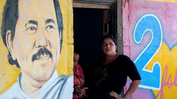An image of president Daniel Ortega in Catarina, Nicaragua. Photo from REUTERS