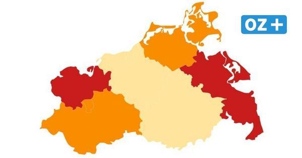 Corona in MV: So hoch ist die Inzidenz aktuell in den Städten und Landkreisen
