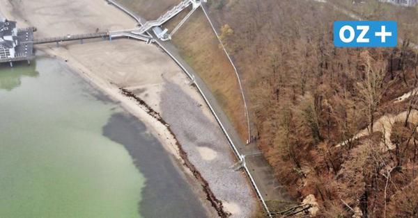 Neben Selliner Seebrücke: Steilküste stürzt auf Fußgängerweg