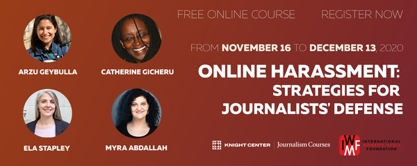 Online Harassment: Strategies for Journalists' Defense