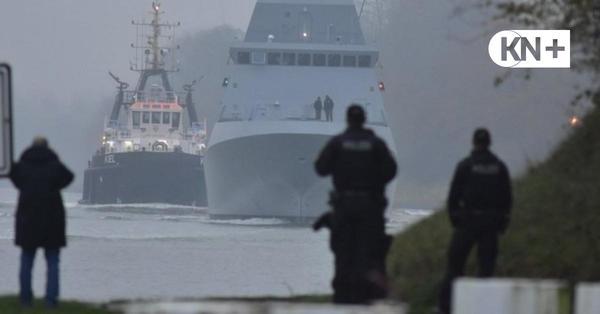Israelische Korvette verlässt Kiel unter Polizeischutz