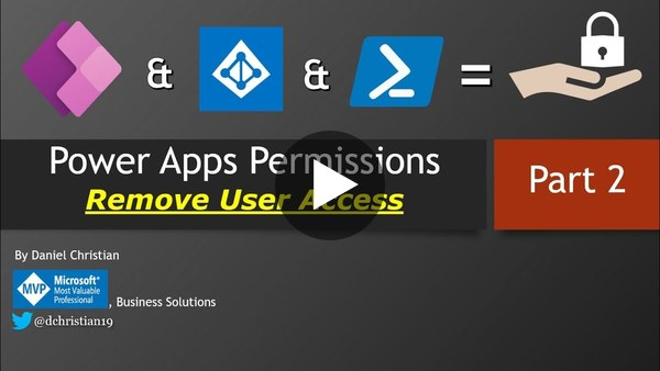 Power Apps Permissions: Remove user access