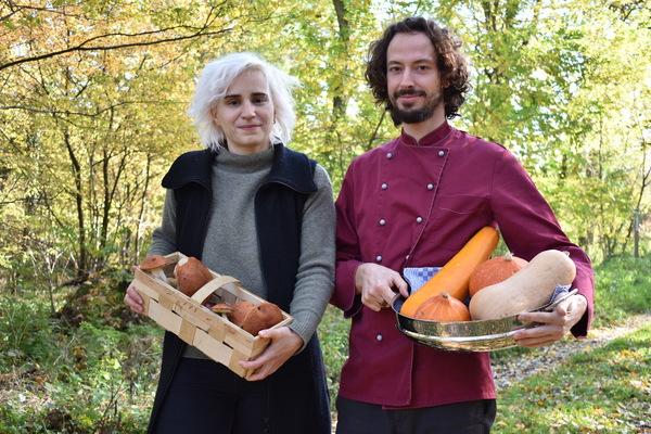 Lisa und Christopher Kahl wollen als Gründer eines fliegenden Restaurants vor allem mit regionalem Essen punkten. Foto: Natalie Preißler