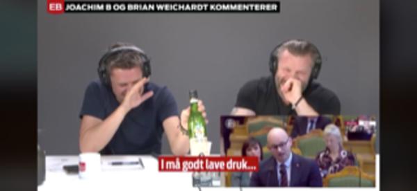 Brian Weichardt og Joachim B. Olsen tømte en flaske Fernet Branca
