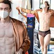 Thomas Doherty of Gossip Girl flashes his underwear as he leads stars spotted on set of new reboot
