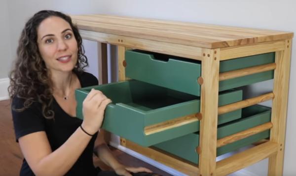 Clever idea for drawer slides.