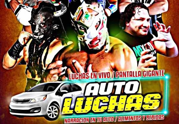 Súper Crazy, Dr. Wagner y Taurus en el primer Autoluchas en Pachuca