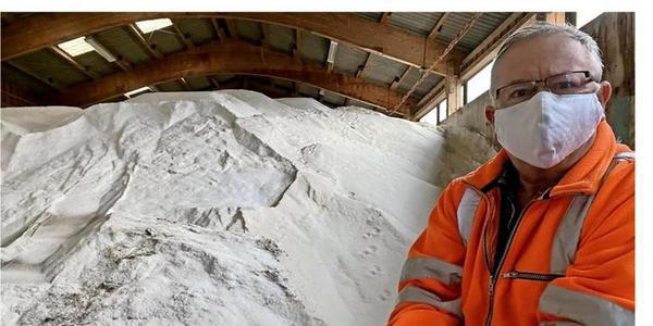 Salz aus dem Harz macht Grimmens Straßen sicherer