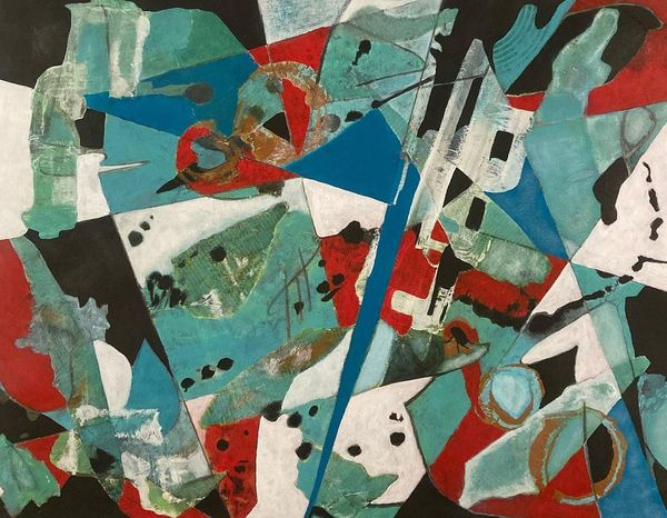 Juliette Manolié, Archipelago, newspaper and acrylic on paper
