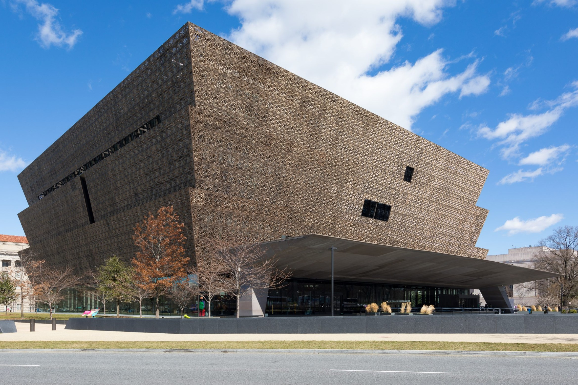 The Smithsonian's National Museum of African American History and Culture in Washington, DC (via Wikimedia Commons)